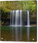 Upper Butte Creek Falls In Fall Season Acrylic Print