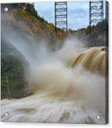 Upper Falls After A Storm Acrylic Print
