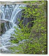 Upper Falls At Mine Kill State Park Acrylic Print