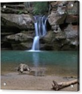 Upper Falls In Hocking Hills Acrylic Print