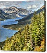 Upper Waterton Lake Valley Acrylic Print