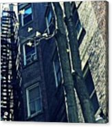 Upper West Side Apartment Building Acrylic Print by Sarah Loft