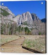 Upper Yosemite Fall And The Trail Acrylic Print