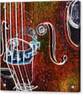Upright Bass Close Up Acrylic Print