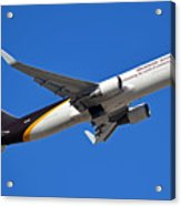 Ups Boeing 767-34af N332up Phoenix Sky Harbor January 12 2015 Acrylic Print