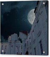 Upside Down White House At Night Acrylic Print