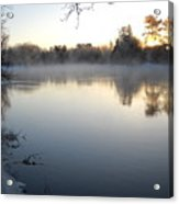 Upstream Mississippi River After Ice Out Acrylic Print
