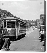 Uptown Trolley Near 193rd Street Acrylic Print