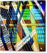 Urban Abstract 123 Acrylic Print