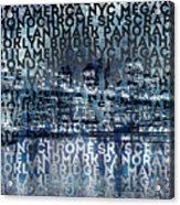 Urban-art Nyc Brooklyn Bridge I Acrylic Print by Melanie Viola