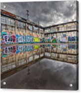 Urban Art Reflection Acrylic Print