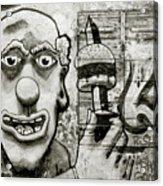 Urban Clown Acrylic Print
