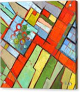 Urban Composition - Abstract Zoning Plan Acrylic Print