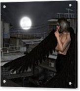 Urban Guardian Angel - Standing Acrylic Print