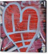 Urban Heart Acrylic Print