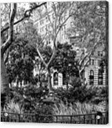 Urban Pocket Park Acrylic Print