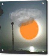 Urban Sea Sunset  Acrylic Print