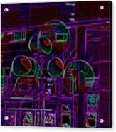 Urban Street Scene Acrylic Print