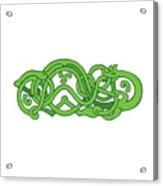Urnes Snake Extended Stomach Retro Acrylic Print