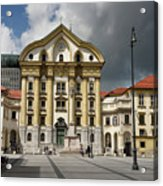 Ursuline Church Of The Holy Trinity With Marble Statues Of The H Acrylic Print