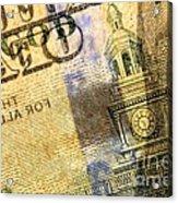 Us 100 Dollar Bill Security Features, 6 Acrylic Print