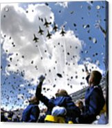 U.s. Air Force Academy Graduates Throw Acrylic Print by Stocktrek Images