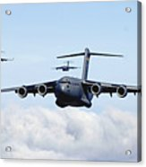 U.s. Air Force C-17 Globemasters Acrylic Print