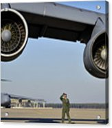 U.s. Air Force Crew Chief Performs Acrylic Print
