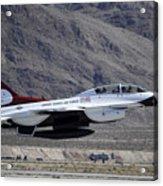 U.s. Air Force Thunderbird F-16 Acrylic Print