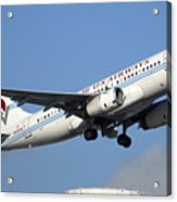 Us Airways Airbus A319-132 N828aw Phoenix Sky Harbor December 23 2010 Acrylic Print