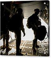 U.s. Army Green Berets Wait To Jump Acrylic Print