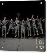 U.s. Army Pilots & Crew Chiefs Jump Acrylic Print