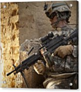 U.s. Army Ranger In Afghanistan Combat Acrylic Print