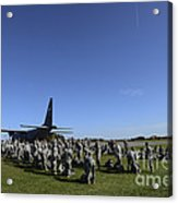 U.s. Army Soldiers Conduct Pre-jump Acrylic Print