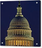 U.s. Capitol At Night Acrylic Print