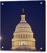 U.s. Capitol Building Lit Acrylic Print