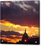 U.s. Capitol Dome At Sunset Acrylic Print