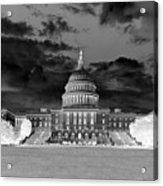 Us Capitol Washington Dc Negative Acrylic Print