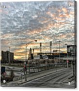Us Cell Sunset Acrylic Print