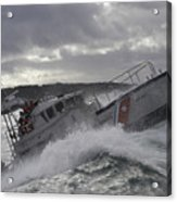 U.s. Coast Guard Motor Life Boat Brakes Acrylic Print by Stocktrek Images