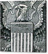 Us Dollar Eagle Acrylic Print