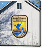 Us Fish And Wildlife Service Sign  3931 Acrylic Print