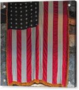 Us Flag At Whiteface Mountain Ny Acrylic Print