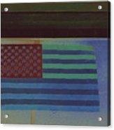 Us Flag On Wall Casa Grande Arizona 2004-2008 Acrylic Print