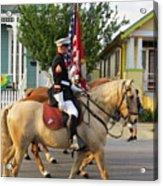 U.s. Marine Corps Krewe Of Proteus Mardi Gras 2017 Acrylic Print