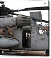 U.s. Marines Perform Preflight Checks Acrylic Print
