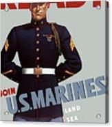 Us Marines - Ready Acrylic Print