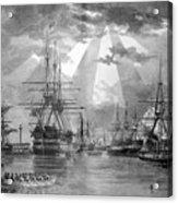 U.s. Naval Ships At The Brooklyn Navy Yard Acrylic Print
