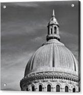 U.s. Naval Academy Chapel Dome Bw Acrylic Print