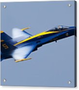Us Navy Blue Angels High Speed Pass Acrylic Print